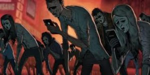 zombies on phone